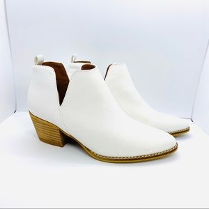 Ccocci Eloise Boots Vegan Leather Booties White 6